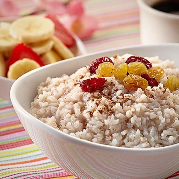 Breakfast Rice Cereal with Cinnamon & Raisins