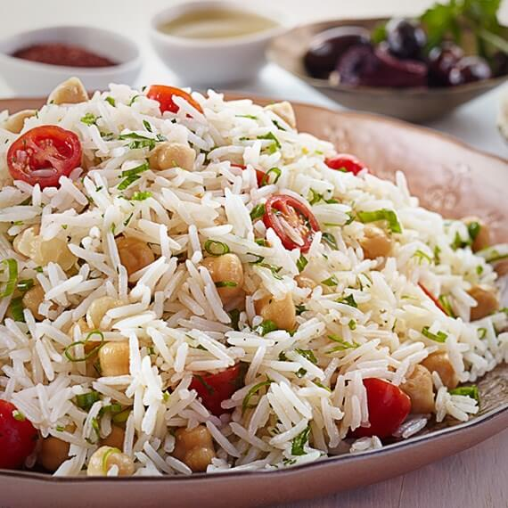 Garbanzo Rice Medley with Onions & Cherry Tomatoes