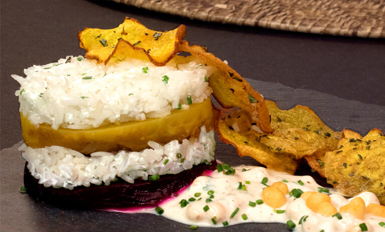 Cook with Maneet Chauhan: Royal Basmati and Roasted Beet Napoleon