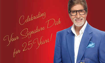 CELEBRATE YOUR SIGNATURE DISH WITH AMITABH BACHCHAN