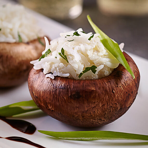 Basmati Stuffed Portobello Mushrooms