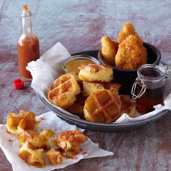 Hot Chicken and Royal Basmati Rice Waffle