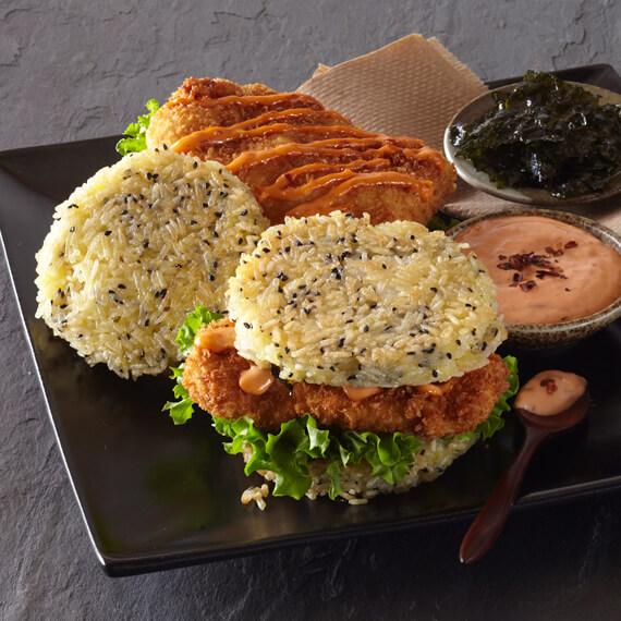 Royal Basmati Rice Chicken Katsu Burgers