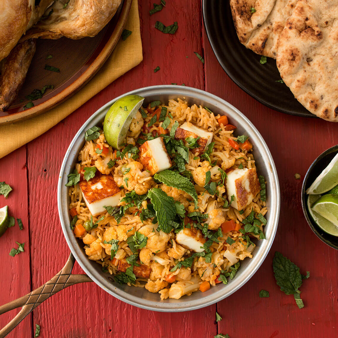 Easy Paneer and Vegetable Biryani