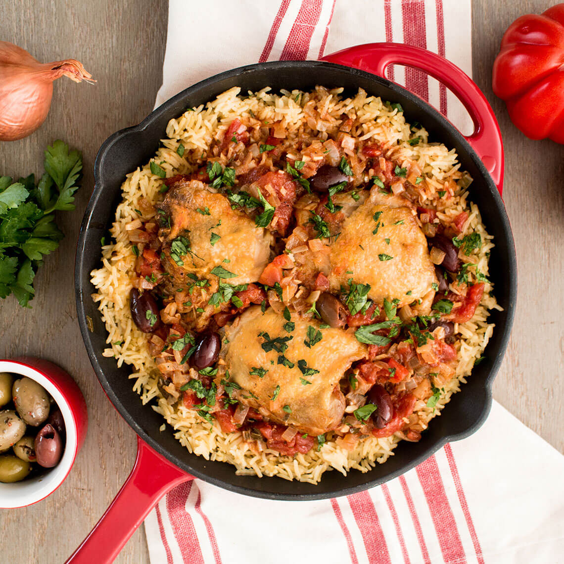 One-Pot Provençal Chicken With French Rice Pilaf