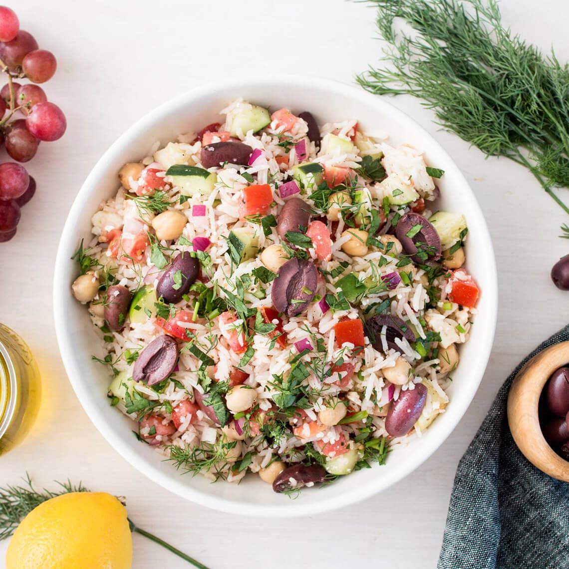 Greek Chopped Rice Salad