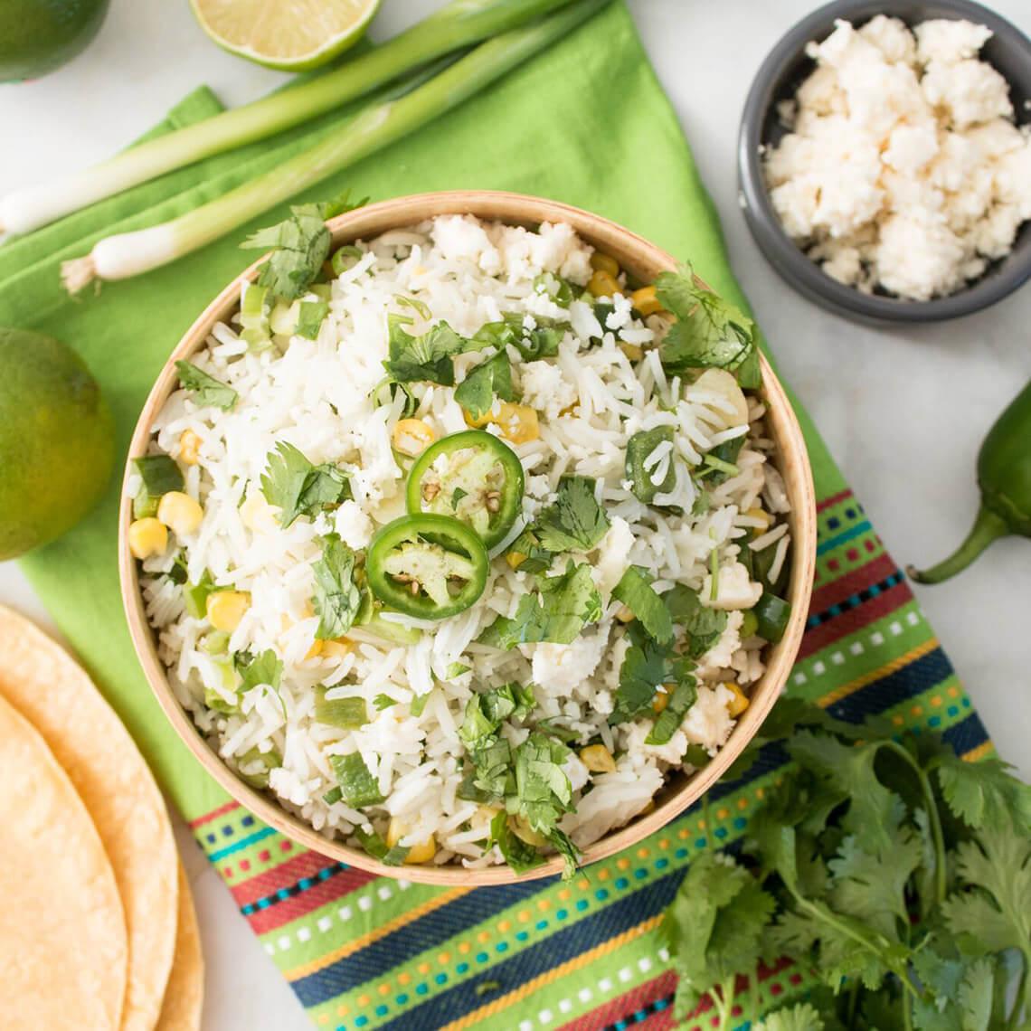 Corn and Poblano Mexican Rice