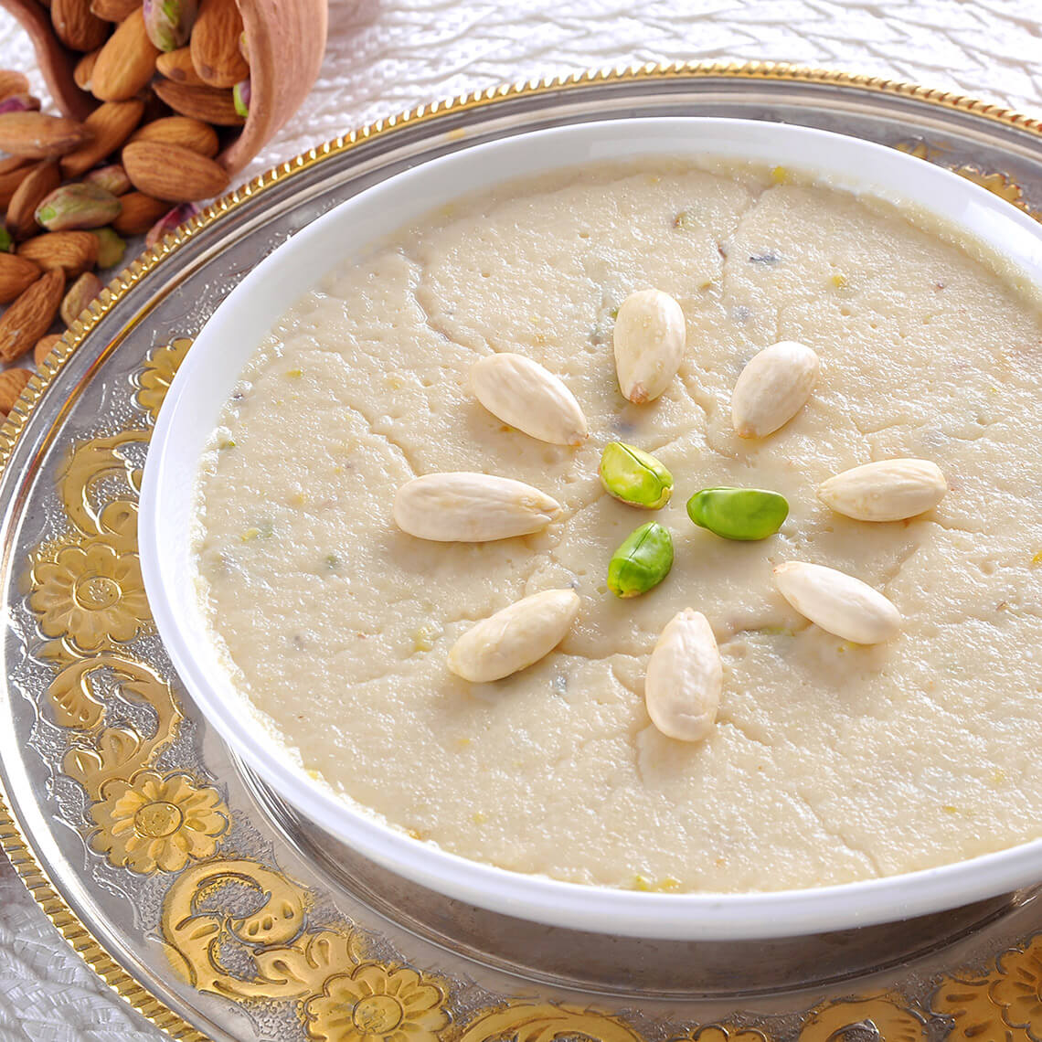 Almond and Rice Phirnee