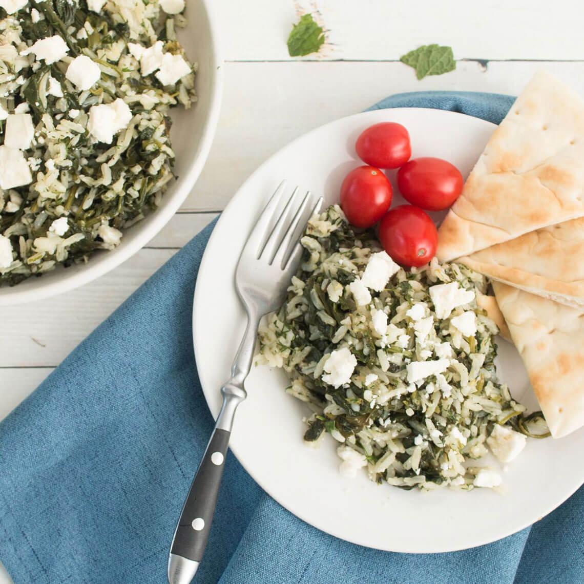 Greek Spinach Rice