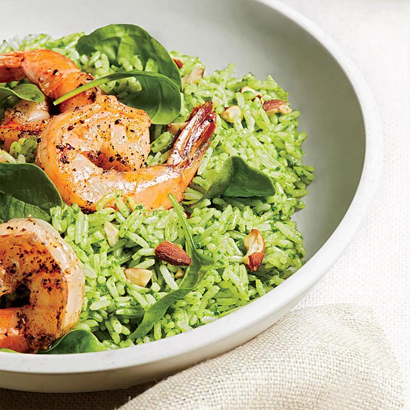 Shrimp and Pesto Rice Salad