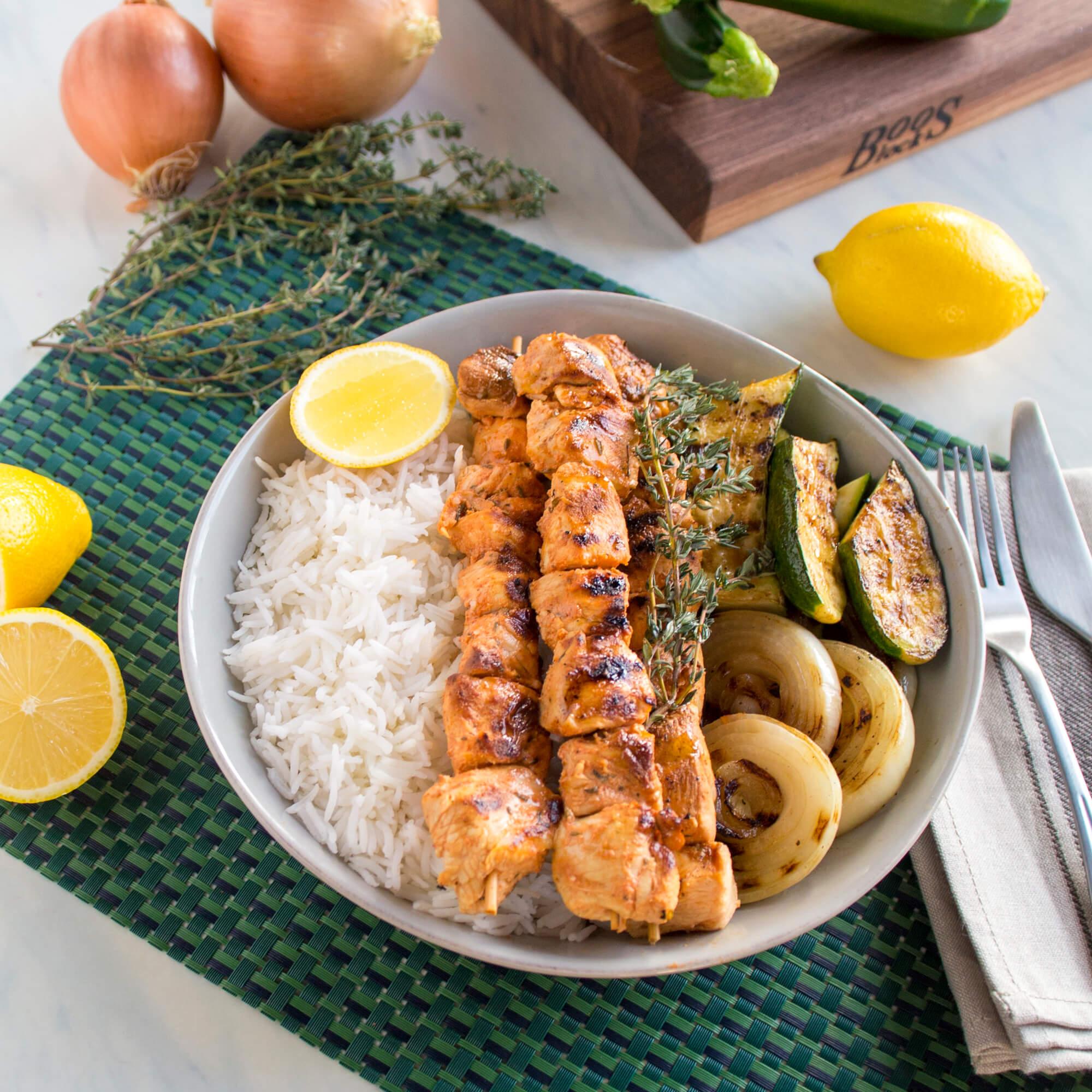 Shish Tawook (or Shish Taouk) with Royal Basmati Rice