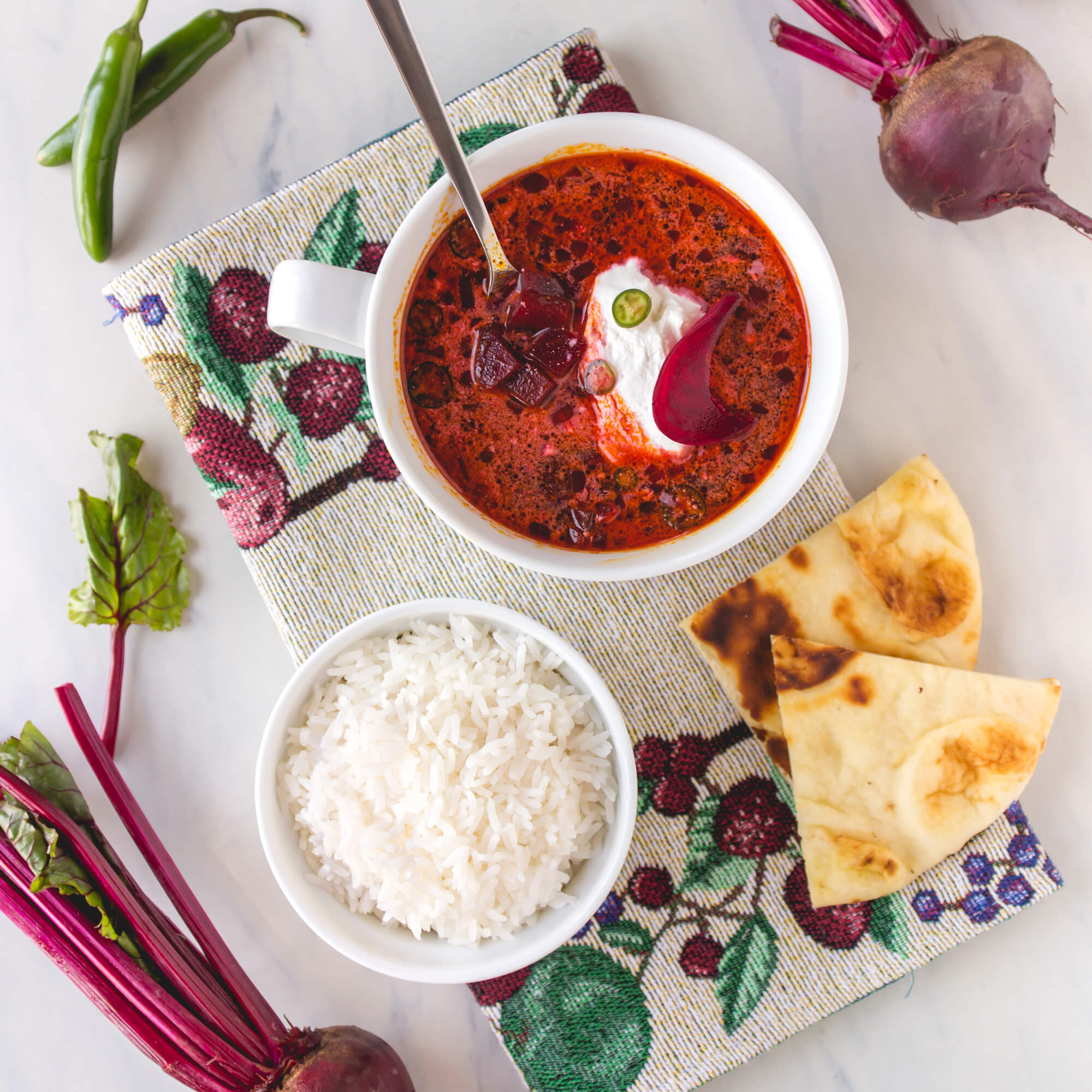 Beetroot Soup with Royal Jasmine Rice