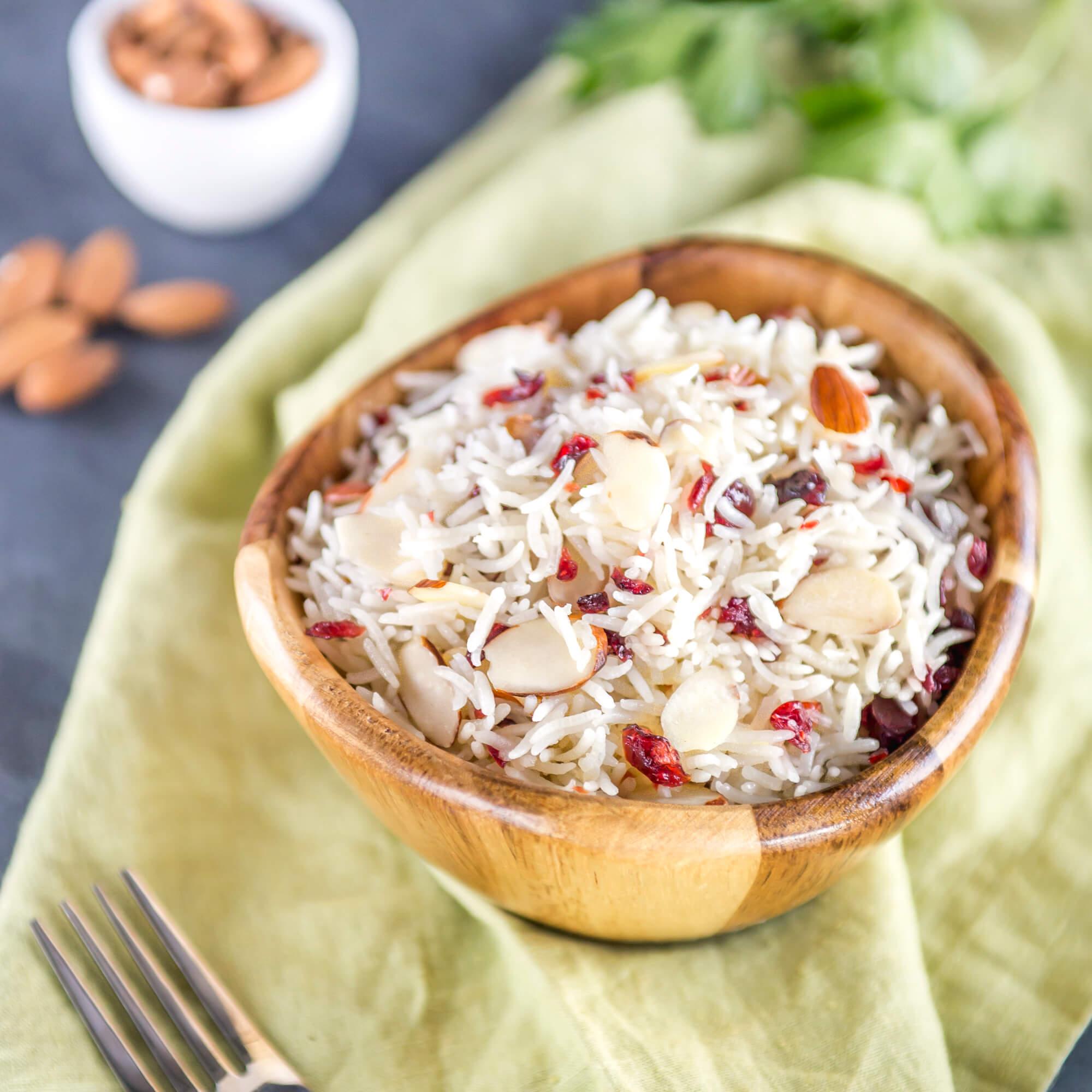 Almond Cranberry Rice Pilaf