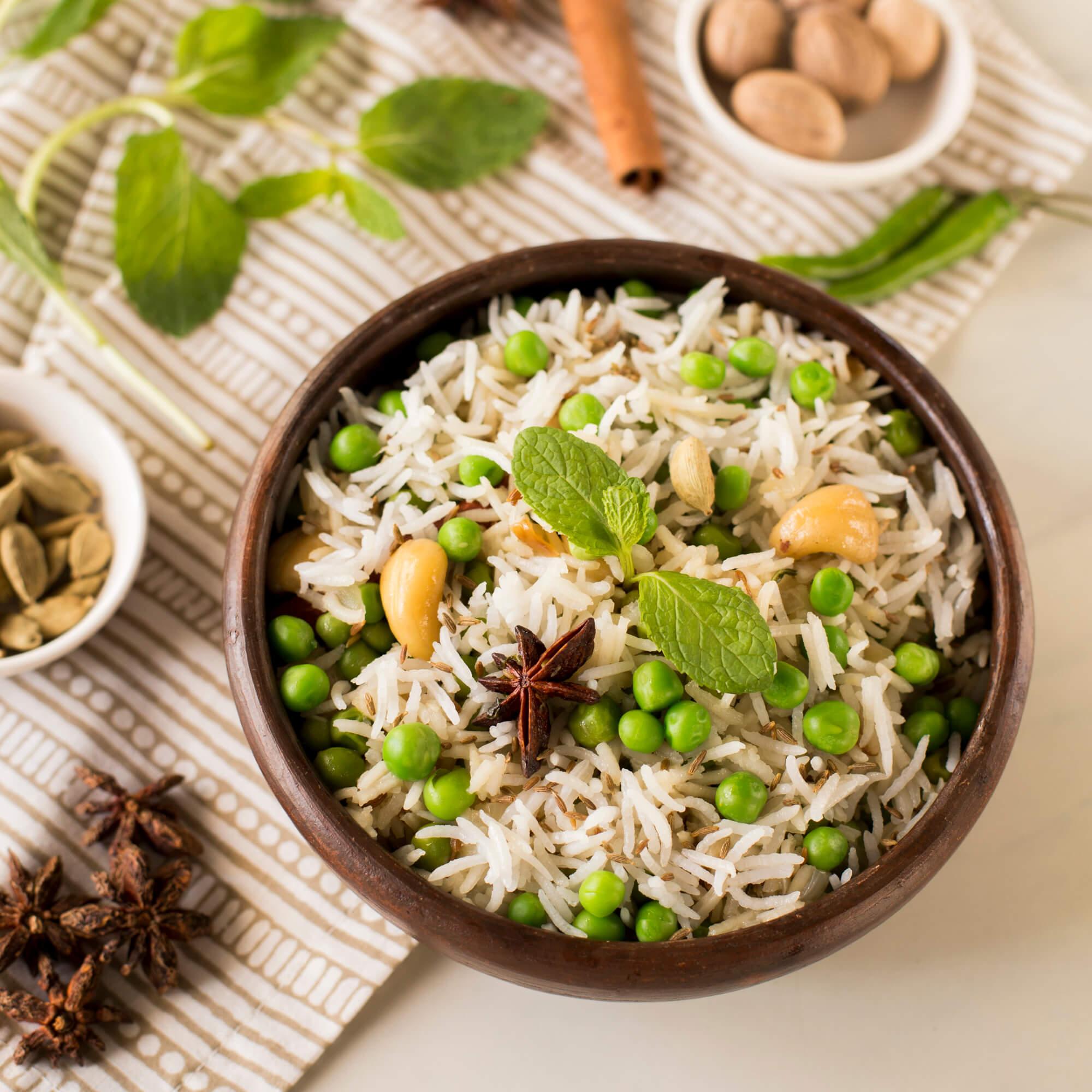 Peas Pulao with Royal Basmati Rice