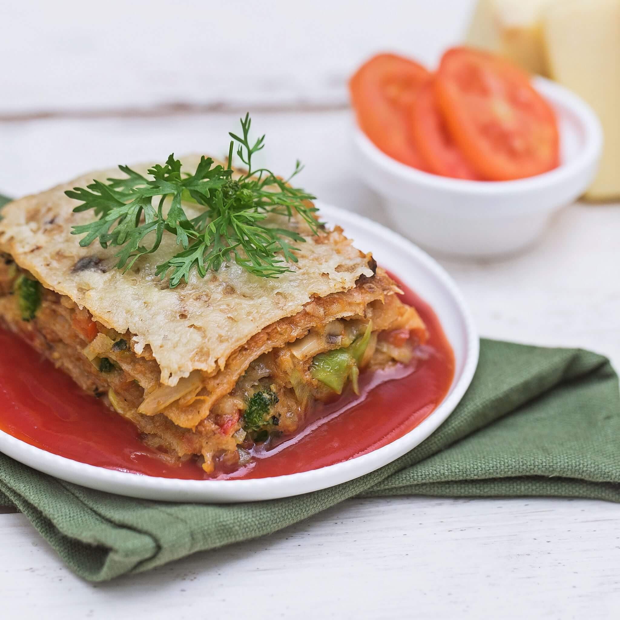 Desi Lasagna – Made with Royal® Sharbati Atta