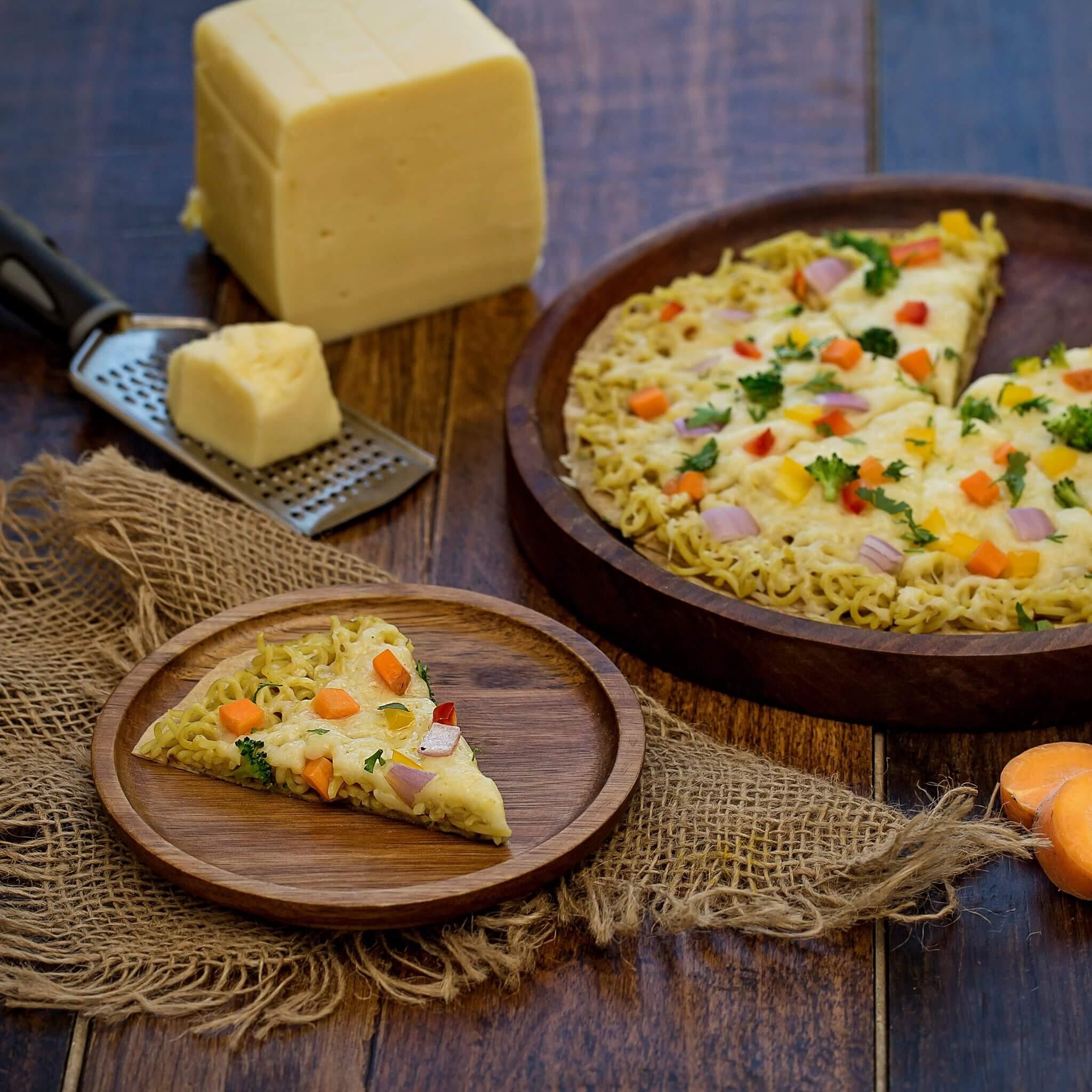 Noodles Roti Pizza – Made with Royal® Sharbati Atta