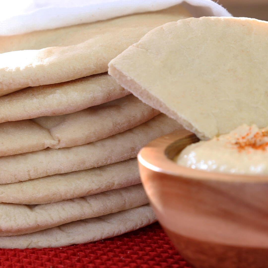 Whole Wheat Pita Bread – Made with Royal® Sharbati Atta