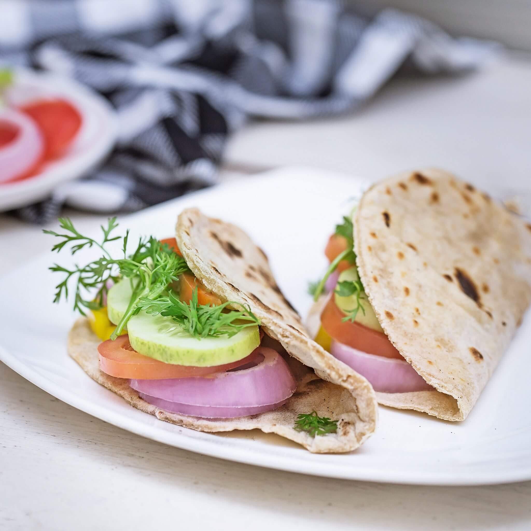 Open Faced Roti Sandwich – Made with Royal® Sharbati Atta