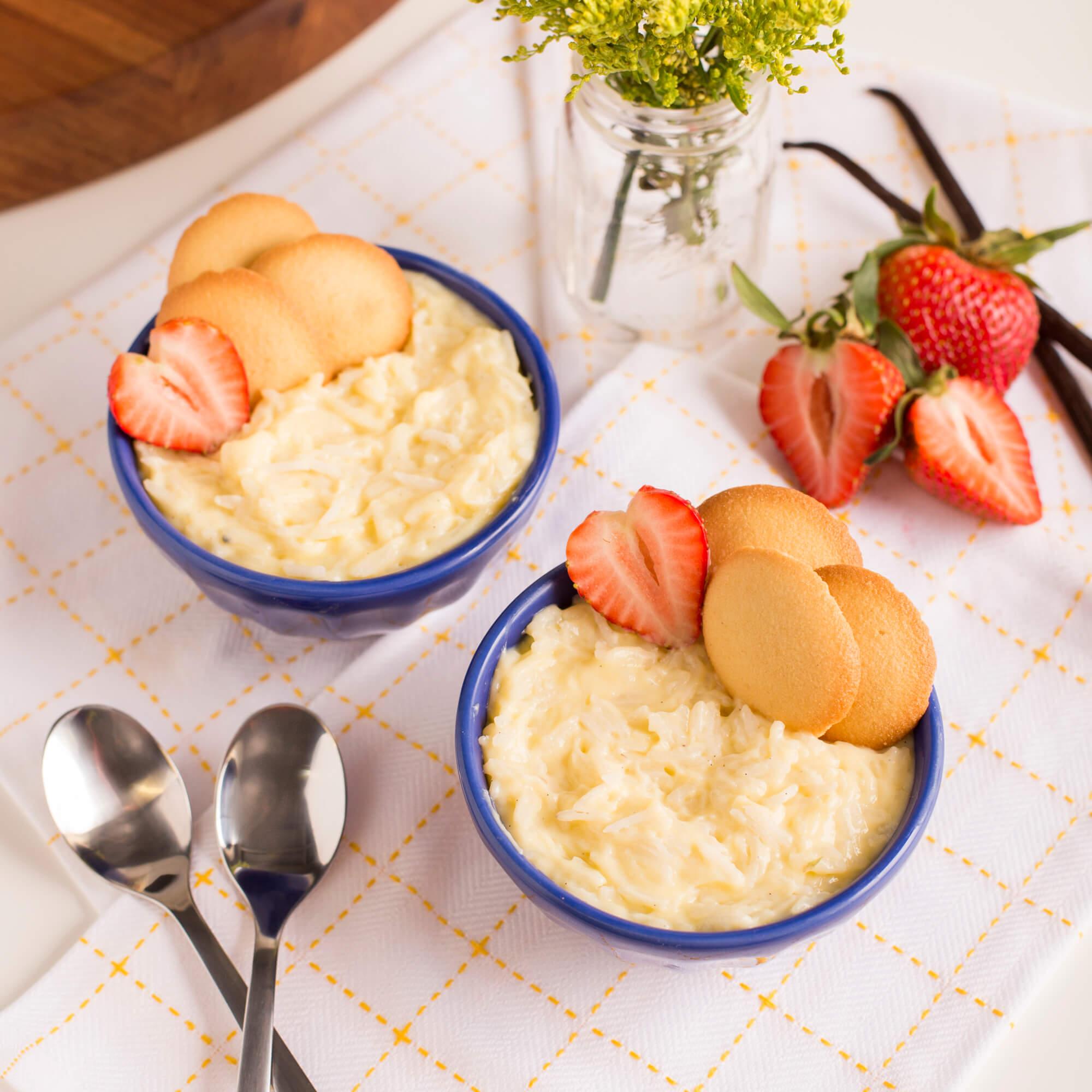 Vanilla Custard Pudding with Royal Basmati Rice