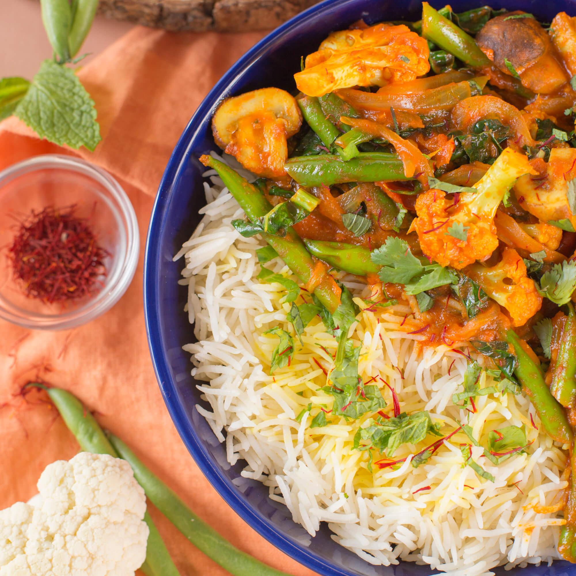 Veg Dum Biryani with Royal Chef's Secret Basmati Rice