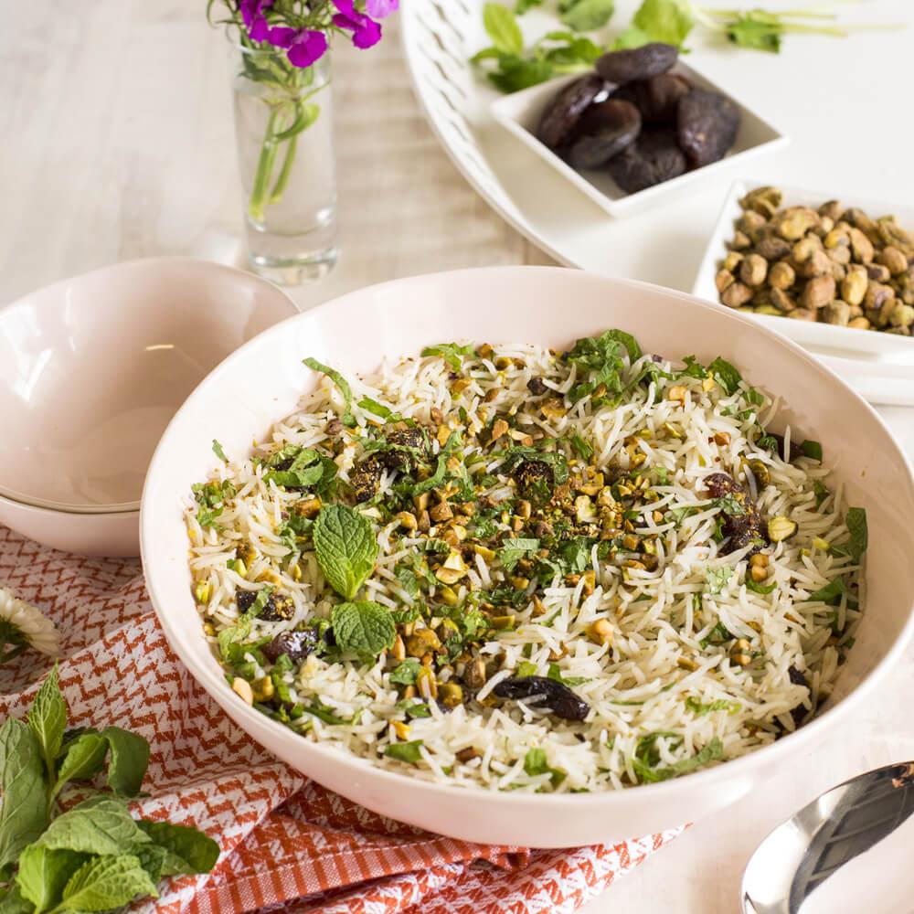 Royal Chef's Secret Long Grain Basmati Rice with Pistachios, Honey and Mint