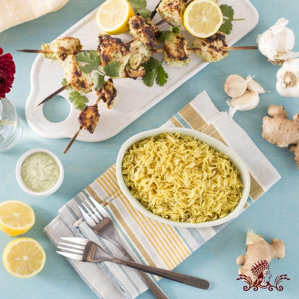 Reshmi Kabab with Royal® Basmati Rice