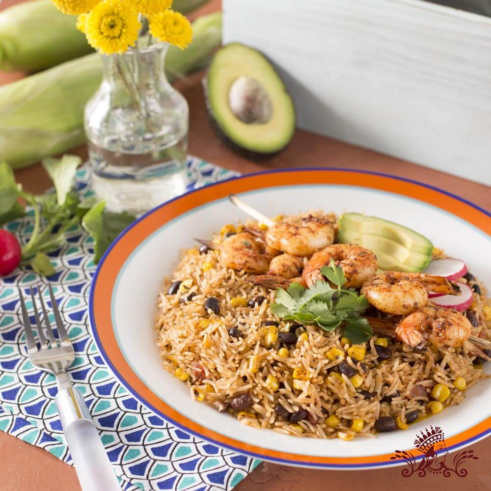 Mexican Style Royal® Basmati Rice with Grilled Shrimp