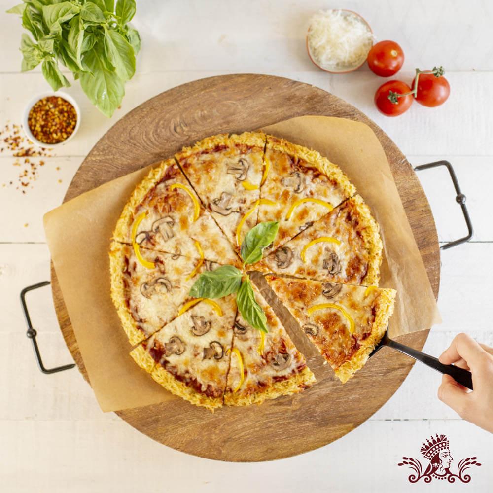 Rice Crust Veggie Pizza with Royal® Basmati Rice