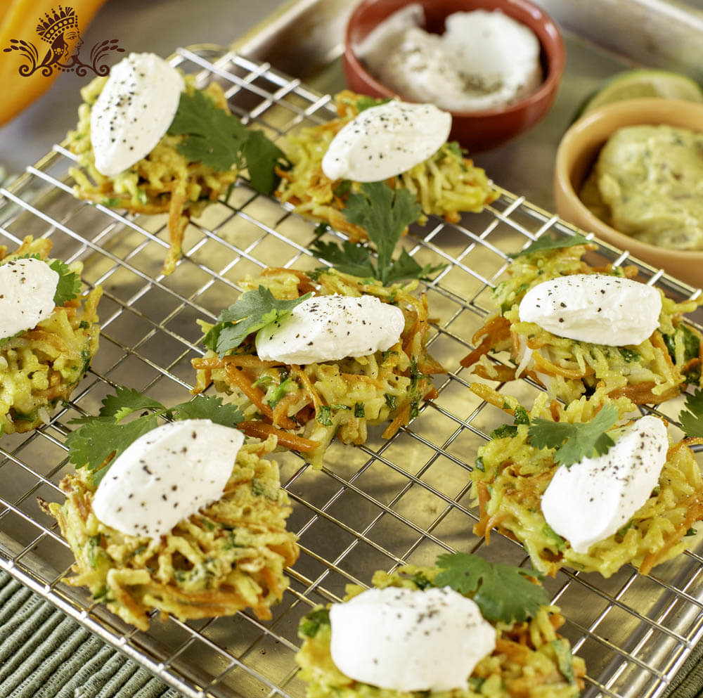 Carrot, Coriander and Royal® Basmati Rice Fritters