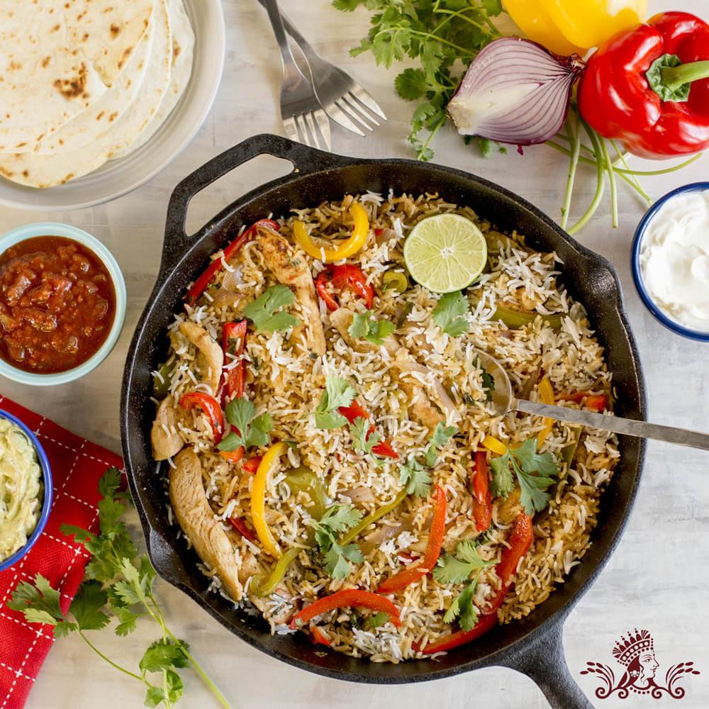 Chicken and Royal® Basmati Rice Fajita Skillet