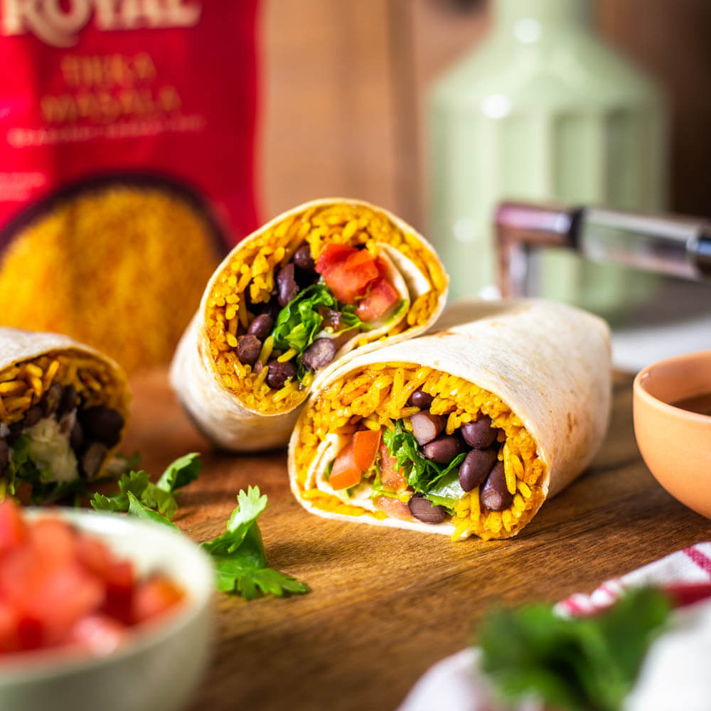 Royal Tikka Rice Burrito