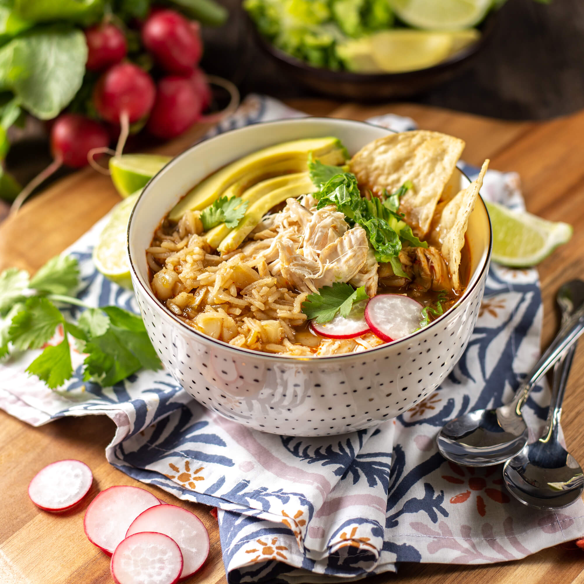 Chicken and Rice Pozole