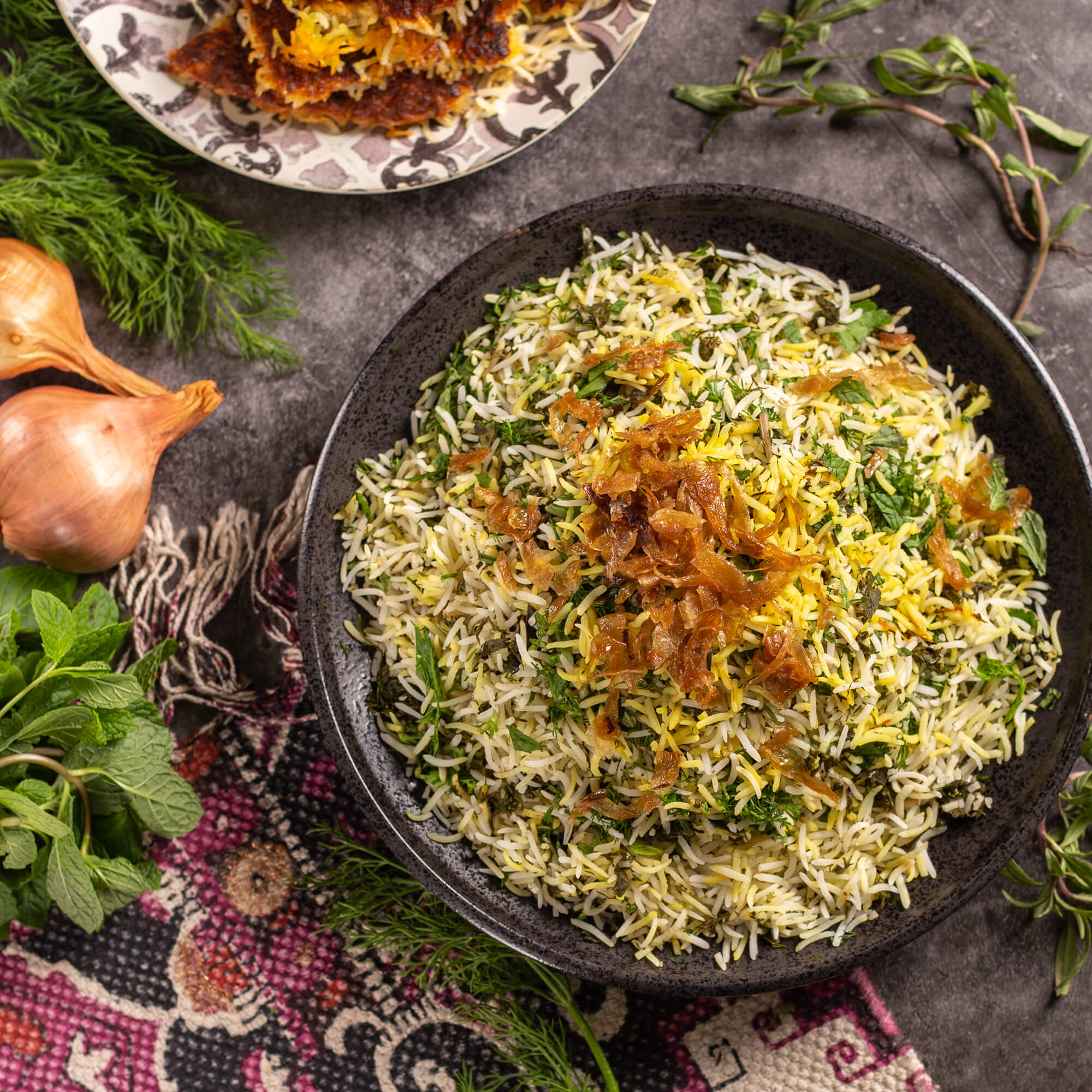 Herbed Rice with Saffron & Shallots