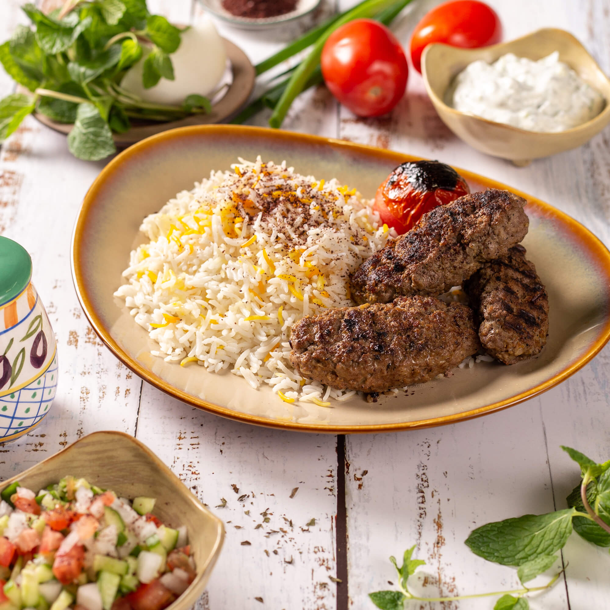 Stovetop Lamb Kabob & Persian Rice