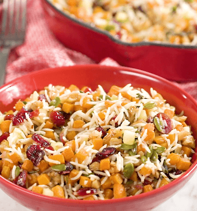 Roasted Butternut Squash, Apple, Cranberry Pilaf