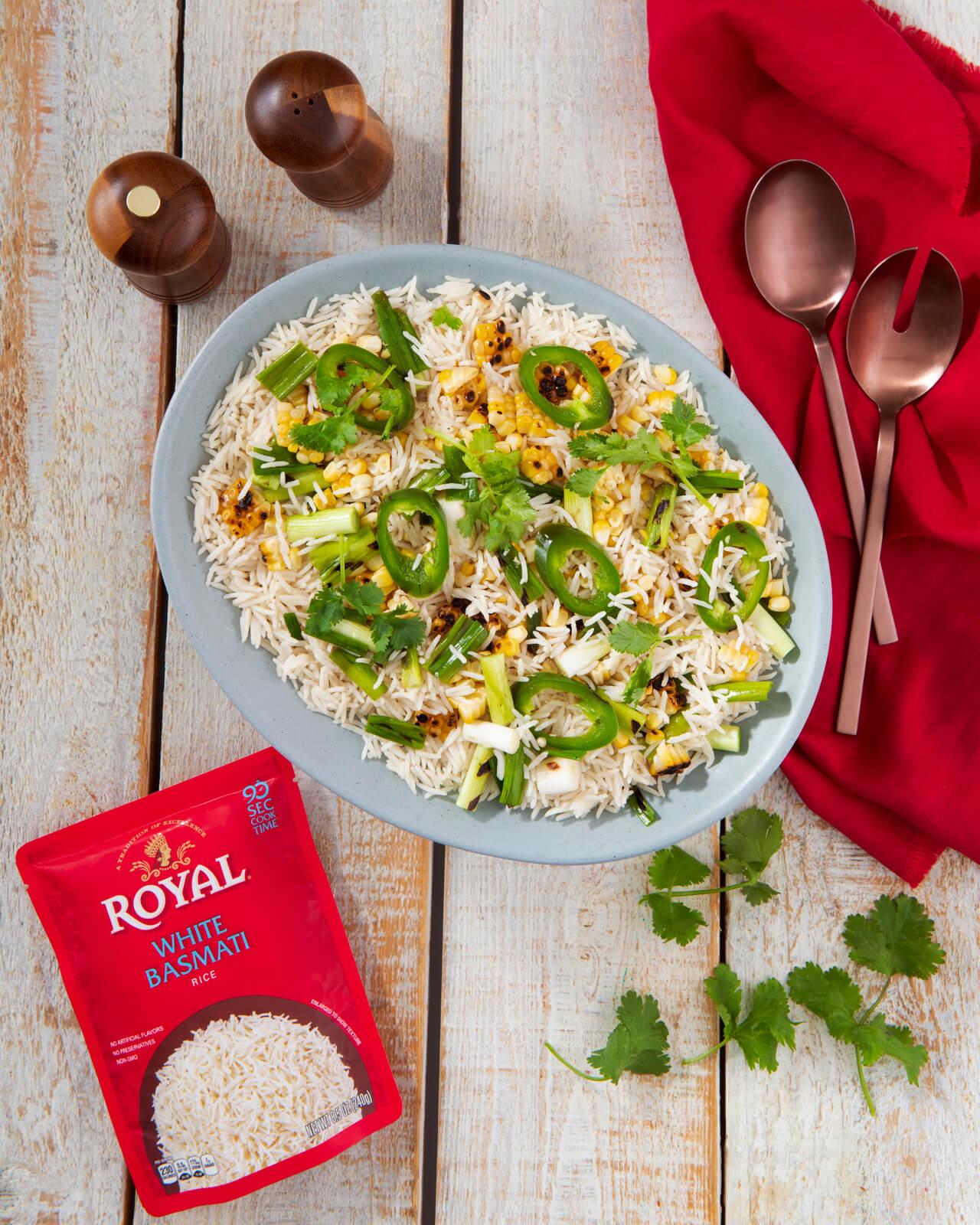 Spicy Charred Veggie Rice