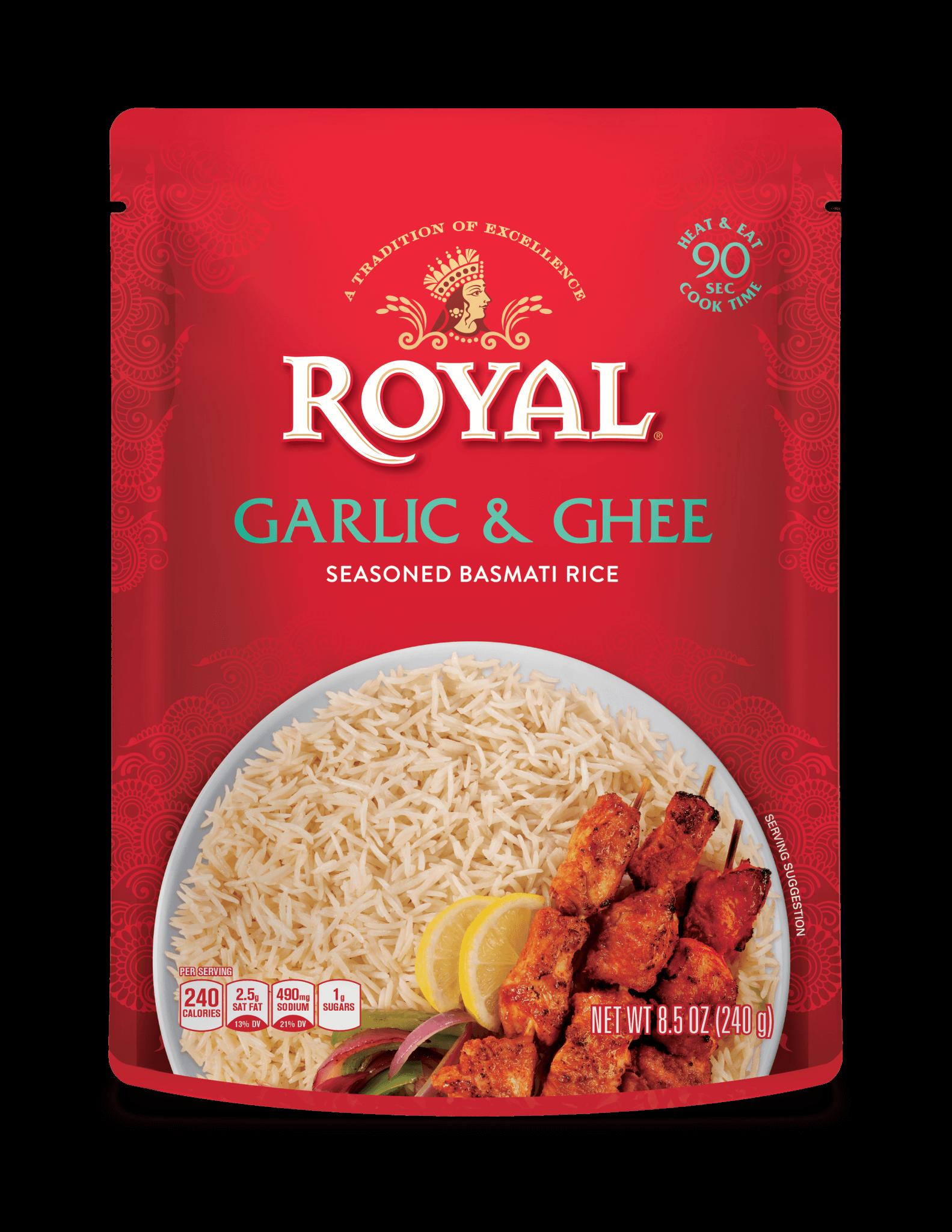 Garlic & Ghee Seasoned  Basmati Rice