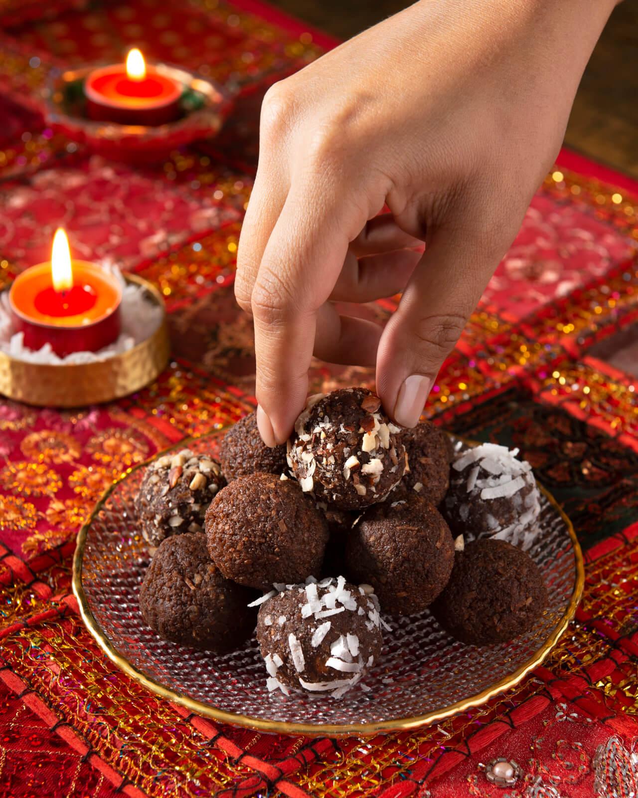 Chocolate Hazelnut Ladoo Balls