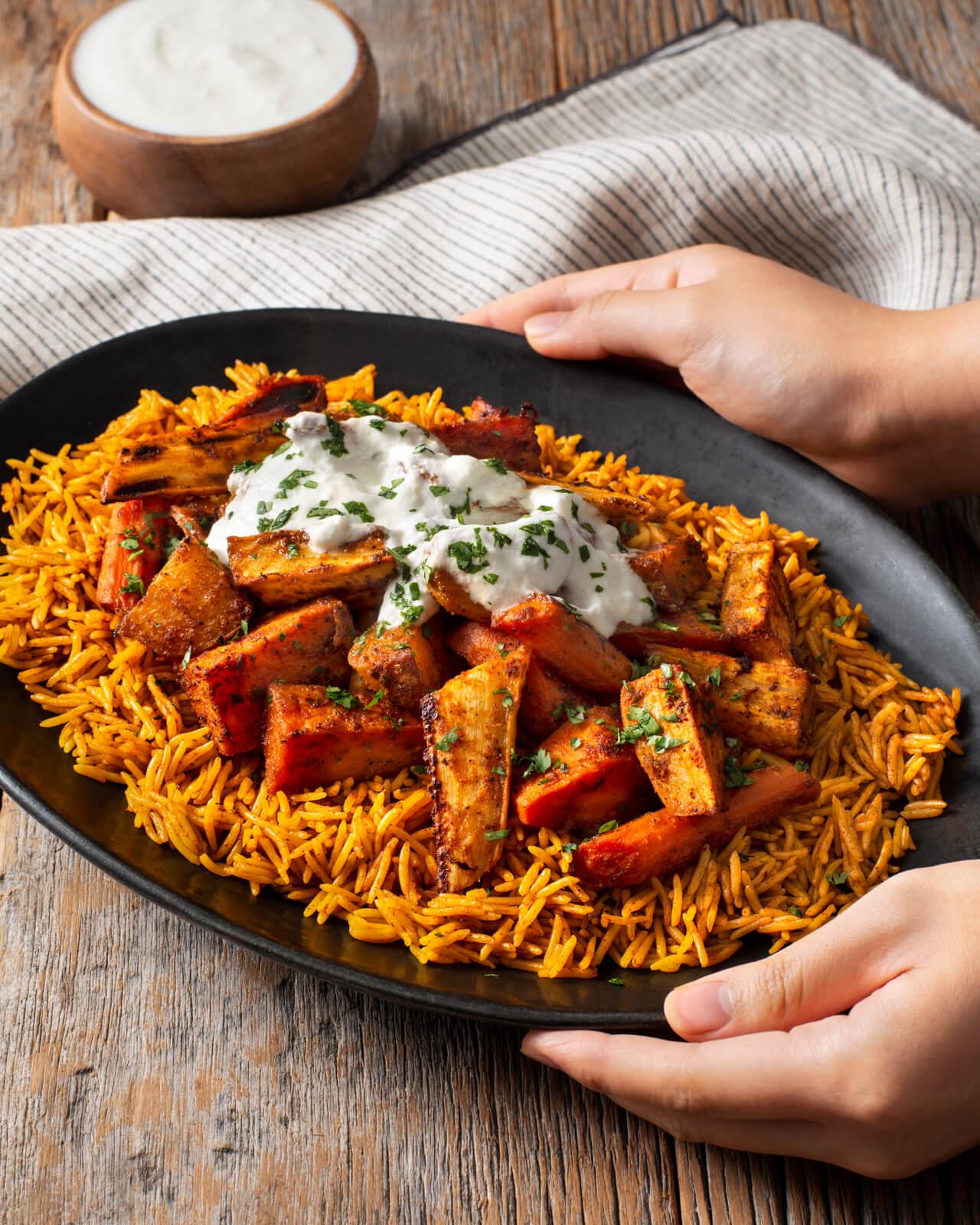 Roasted Tandoori Root Vegetables