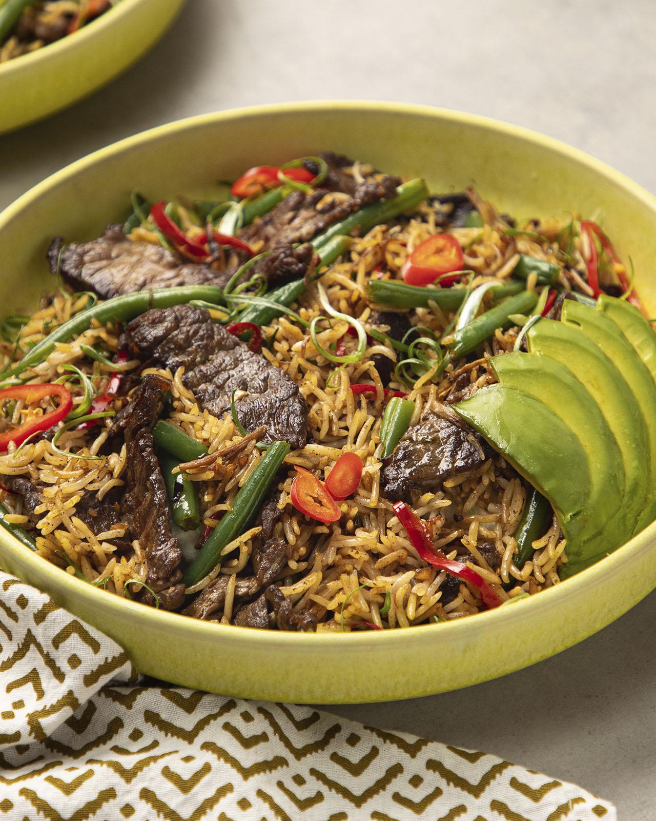 Pili Pili Beef Fried Rice